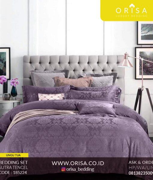 seprai sutra murah orisa warna ungu muda