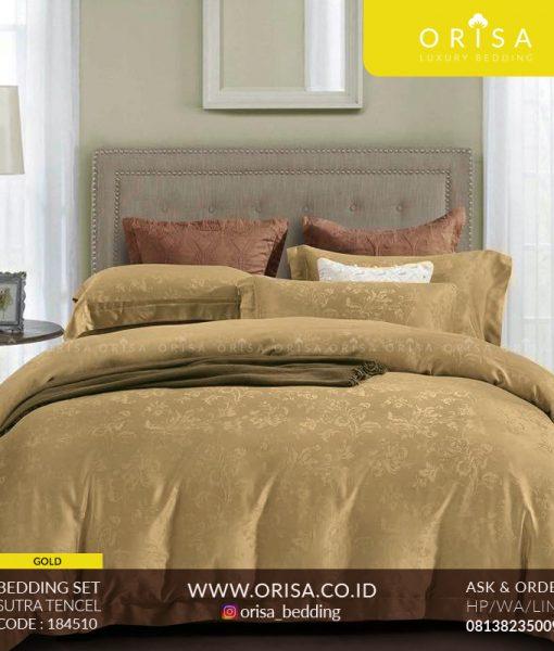 sprei mewah bedcover orisa bedding warna gold