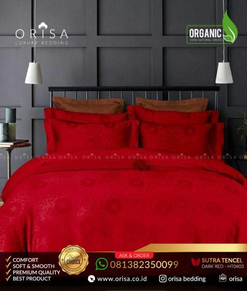sprei-mewah-orisa-bedding-sutra-jacguard-tencel-organik-merah