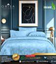 sprei-bedcover set-orisa-sutra-tencel -jacguard-original-warna-biru-muda