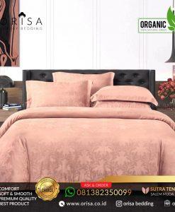 sprei bedcover set orisa sutra tencel jacguard original warna salem muda