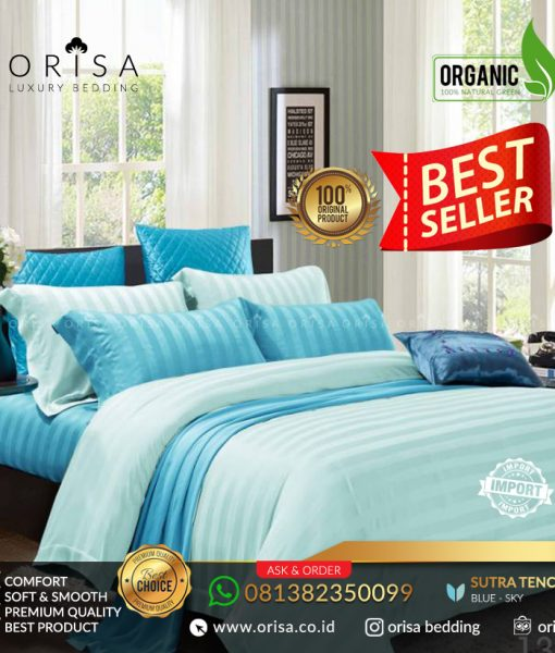 sprei bed cover hotel sutra mewah