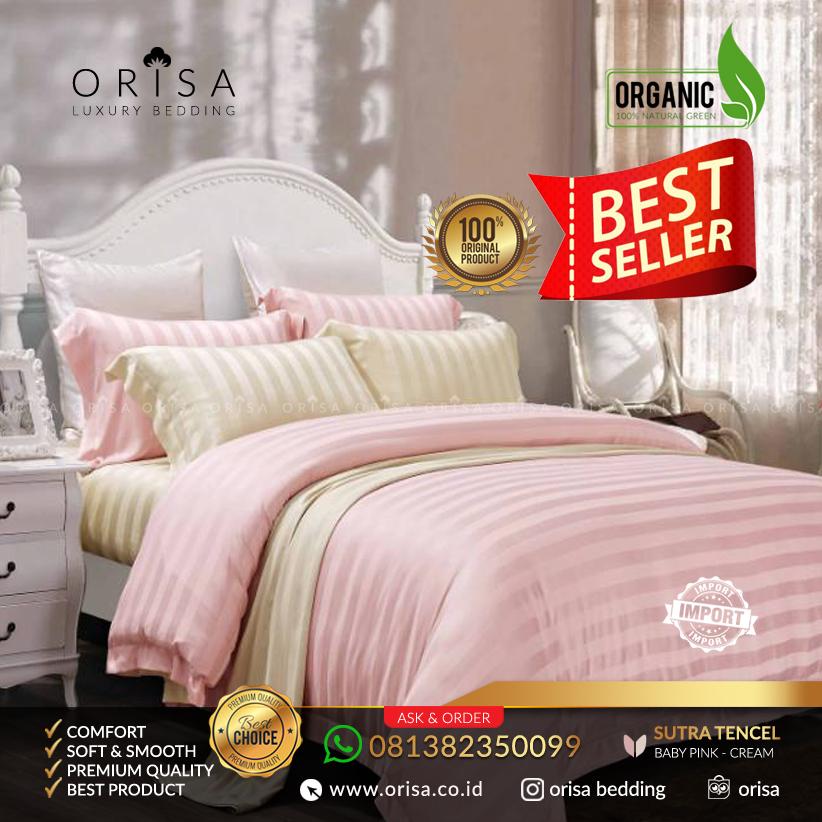 sprei-bed-cover-mewah-orisa-garis-baby-pink-bahan-jacguard-tencel-sutra-premium