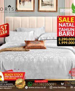 SALE! Sprei Bedcover set 200x200 Jacguard Sutra Tencel Premium