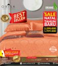 SALE! Sprei Bedcover set 200x200 extra king Jacguard Sutra Tencel