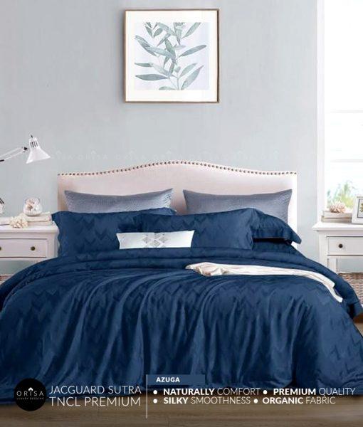 sprei-biru-bedcover-orisa-bahan-jacguard-sutra-tencel-mewah