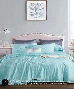 sprei-biru-muda-bedcover-orisa-bahan-jacguard-sutra-tencel-mewah