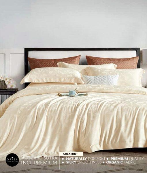 sprei-cream-bedcover-orisa-bahan-jacguard-sutra-tencel-mewah