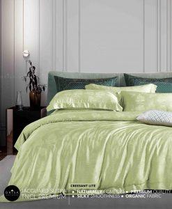 sprei-hijau-bedcover-orisa-bahan-jacguard-sutra-tencel-mewah